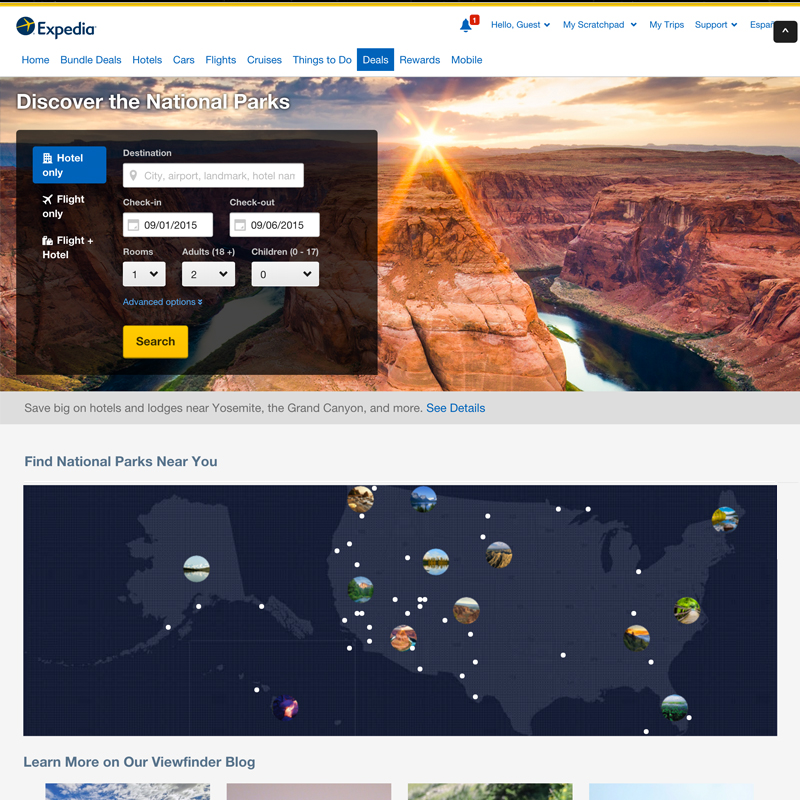 Expedia National Parks